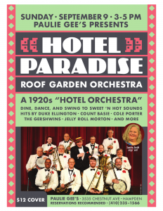 Hotel Paradise Roof Garden Orchestra Flyer 9/9