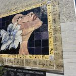 Ceramic mural of Billie Holiday