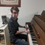 Will Kibel at the piano